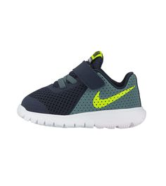Nike Flex Experience 5 TDV Toddler Obsidian/Volt/Hasta White, Kids Footwear,