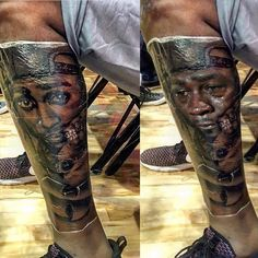 Kevin Durant has a lot of tattoos under his jersey ...