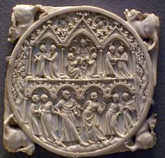 Ivory cover back for a mirror century Louvre Museum Gothic Mirror, All Is Vanity, Statues, Louvre, French Mirror, Medieval Art, Sculpture, Ivoire, Middle Ages