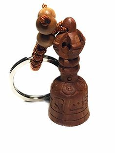 Feng Shui Hand Curved Peach Wood Anti Negative Bell Key Ring with a Betterdecor Pounch * Check out the image by visiting the link. Key Rings, Feng Shui, Decorative Bells, Peach, Amazon, Link, Wood, Check, Image