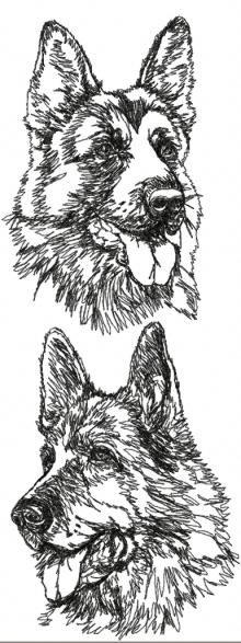 German Shepherd Dog Set