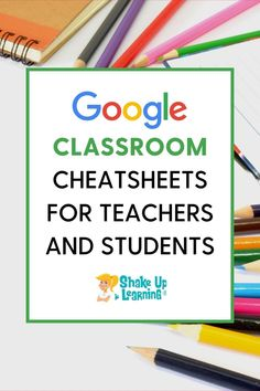 Right now, teachers are seeking lots of extra resources to help with home learning during this unexpected school closure period. Here are some Google Classroom Cheat Sheets for Teachers and Students! #googleclassroom #edtech | shakeuplearning.com Home Learning, Learning Tools, Technology Tools, Educational Technology, Free Teaching Resources, Teacher Resources, School Closures, Google Classroom, Cheat Sheets