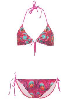 ¡Cómpralo ya!. TWINTIP Bikini pink. TWINTIP Bikini pink Ofertas   | Material exterior: 85% poliéster, 15% elastano | Ofertas ¡Haz tu pedido   y disfruta de gastos de enví-o gratuitos! , bikini, bikini, biquini, conjuntosdebikinis, twopiece, trisuit. Bikini  de mujer color violeta rojizo de Twintip.