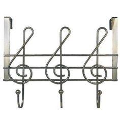 MUSICAL NOTE Over the door hooks for bedroom :) $14.30