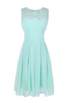 Simple A-line Jewel Knee-length Bridesmaid/Prom/Homecoming Dress With Appliques TTHC0003