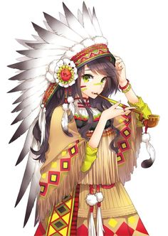 Piper Mclean, Cherokee style and then anime style