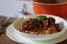 Rosé veal osso buco with Milanese risotto and gremolata — The Kitchen Alchemist