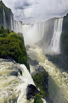 Iguazu Falls / Cataratas del iguazú,Brazil Argentina By GRdeA one of the falls is called the devils throat. Places Around The World, Travel Around The World, Around The Worlds, Beautiful Waterfalls, Beautiful Landscapes, Brazil Argentina, Places To Travel, Places To See, Beautiful Places