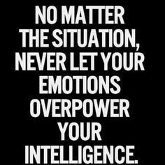 Emotions vs. Intelligence.