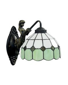 $83.97 Many variations in finish, stained glass and multi light fixtures available. Check out ParrotUncle.com!! Handcrafted stained shade with excellent design makes this wall sconce eye-attracted and timeless. The uniqueness of this Tiffany style wall light lies in the perfect combination of bright and pure colors, giving you a refreshing feeling. This fascinating lighting accessory is sure to bring a new look to your home.