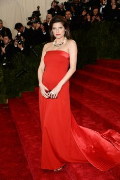 Lake Bell in Tommy Hilfiger at the 2014 Met Gala