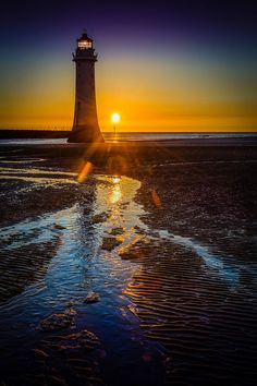 New Brighton Lighthouse, England  (by Peter OReilly)