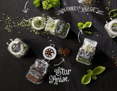 Chalkboard Spice Labels - 'Market Fresh' Labels are Hand-Drawn to Look like Art on a Chalkboard (GALLERY)