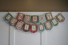 Merry Christmas Banner Christmas Garland by iheartprettypapers, $30.00