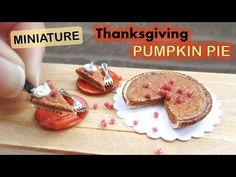 Miniature Thanksgiving Pumpkin Pie / Polymer Clay Tutorial // Maive Ferrando - YouTube