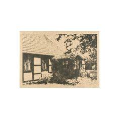 Pocztówka z chatą krajeńską (wzór 1).  Papier kraftowy 350g  Wysyłka: jeżeli na stanie to 72h Vintage World Maps
