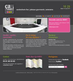 Site de la sandwicherie fine Ça VARY!   Commandes en ligne de plats à emporter ou à livrer. www.ca-vary.fr
