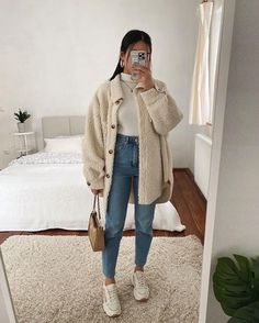 Uni Outfits, Trendy Fall Outfits, Casual Winter Outfits, Winter Fashion Outfits, Mode Outfits, Everyday Outfits, Stylish Outfits, Fall Dress Outfits, Fall School Outfits