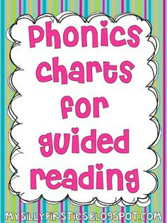Phonics Charts for Guided Reading and Writing - free, and all chats come in both color and black and white versions!
