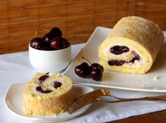 Rulada cu ricotta si visine Ricotta, French Toast, Pudding, Breakfast, Sweet, Desserts, Drink, Food, Morning Coffee
