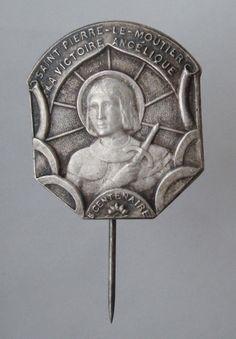 Saint Joan of Arc Antique Stick Pin Brooch by CherishedSaints, $49.00