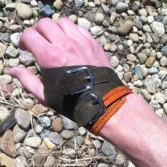 Leather Fingerless Glove  Forest Green by RiverstoneLeather, $30.00