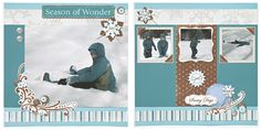 Chilly winter layout from Close To My Heart. #CTMH