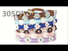 [305DIY]미산가 꽃팔찌만들기, friendship flower bracelets DIY tutorial - YouTube