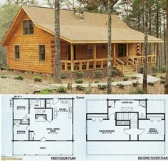 Small Log Home Plans Unique Small Cabin House Plans In 2019 Log Cabin Floor Plans, Log Home Plans, House Floor Plans, Loft Floor Plans, Log Home Kits, House Kits, House Ideas, Barn Plans, Cabin Ideas