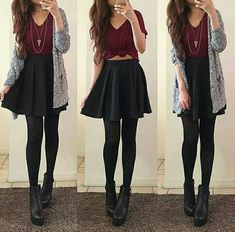 Mode Fashion Style Ideen Rock Outfits Black Skater für 2019 # Rock The Rise of Silver Article Bo Black Skirt Outfits, Black Skater Skirts, Skater Outfits, Rock Outfits, Dress Outfits, Fall Outfits, Casual Outfits, Fashion Outfits, Black Skater Skirt Outfit