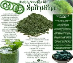 Health benefits of spirulina - one of the 13 plant based ingredients in our Complete Shake Powder Mix.   www.shelbymeyer.juiceplus.com