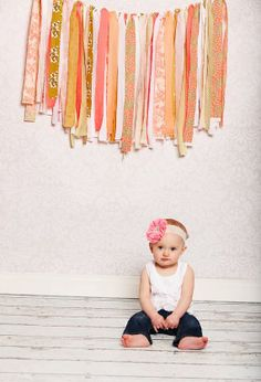Coral Poppy. Fabric banners made with love  by theolivegroveshop, $40.00