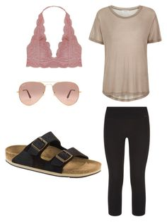 """""""HS Outfits"""" by riniu on Polyvore featuring beauty, Ray-Ban, NIKE, Samsøe & Samsøe, Humble Chic and Birkenstock"""