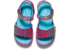 Pink Serape Vegan Tiny TOMS Sandals top