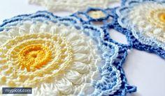 ergahandmade: Crochet motif + Diagrams + Free Pattern Step By Step