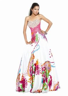Click Image Above To Buy: Jovani 7200, Print Dress With Embellishments