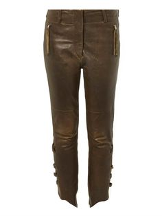 Isabel Marant Henley leather trousers