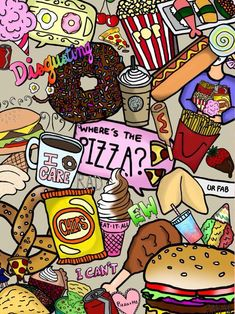 Uploaded by Dán 💀. Find images and videos about food, wallpaper and color on We Heart It - the app to get lost in what you love. Cool Backgrounds, Wallpaper Backgrounds, Phone Backgrounds, Iphone Wallpaper Tumblr Hipster, Quirky Art, Food Wallpaper, Animal Wallpaper, Food Illustrations, Junk Food