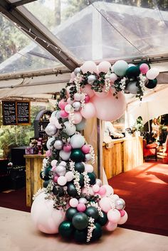 A truly whimsical woodland wedding celebration today with this stunning Longton Wood wedding held in Kent on the September Yes it's time to share WWW Balloon Garland, Balloon Arch, Balloon Decorations, Wedding Decorations, Wedding In The Woods, Our Wedding, Dream Wedding, Enchanted Forest Wedding, Woodland Wedding