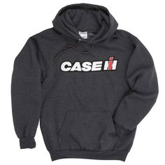 This Case IH Hoodie is exclusive to ShopCaseIH.com! Add some Case IH to your everyday style. The logo is loud and proud on the front of the dark grey heather Case IH Sweatshirt. Made of 50% polyester/50% cotton for a durable blend. Care...