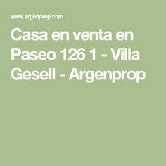 Casa en venta en Paseo 126 1 - Villa Gesell - Argenprop