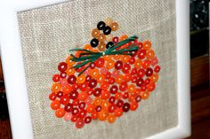fall decorations with buttons - Google Search
