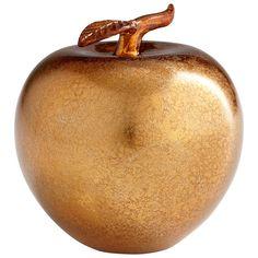 Bronze Apple Sculpture