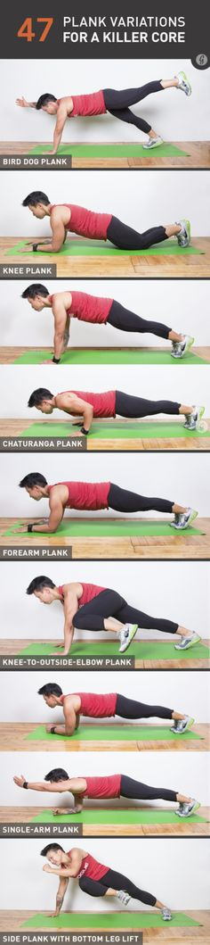 47 Crazy Fun Plank Variations for a Killer Core #workout #fitness #plank