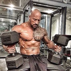 I'd hate to be the receiver of the punches he throws... Punch from The Rock = your first flight across a room...