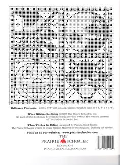 When Witches Go Riding • 4/4 Pattern from back cover
