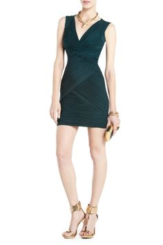 Feel luxurious in the Edesa shirred cocktail dress. $298. Get the look here: http://bcbg.ma/SpKZEp