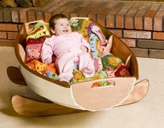 Cradle Boat - My husband is going to build one of these for the baby. :-)