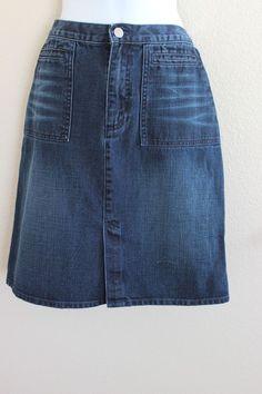 Club Monaco sz 2 Small Denim Jean Skirt B18  | eBay