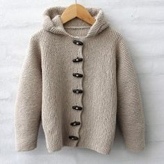 Cardigan Vert, Knit Cardigan Pattern, Crochet Jacket, Hooded Cardigan, Jacket Pattern, Knit Or Crochet, Crochet For Kids, Crochet Baby, Creative Knitting